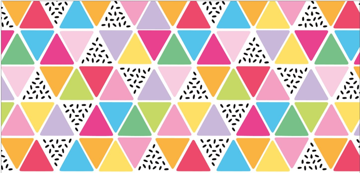 Damask Love Rainbow Fruit Triangles - Multi