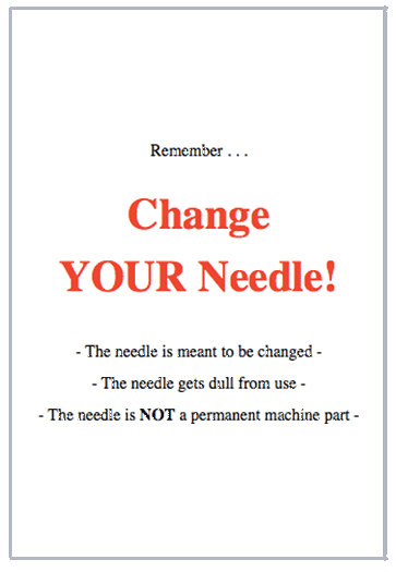 Change Your Needle