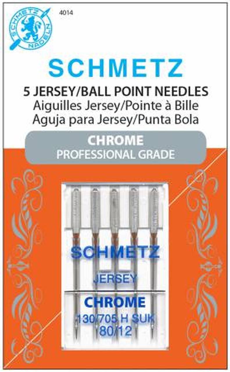 Schmetz Machine Needles Chrome Jersey (Ballpoint) - Size 80/12