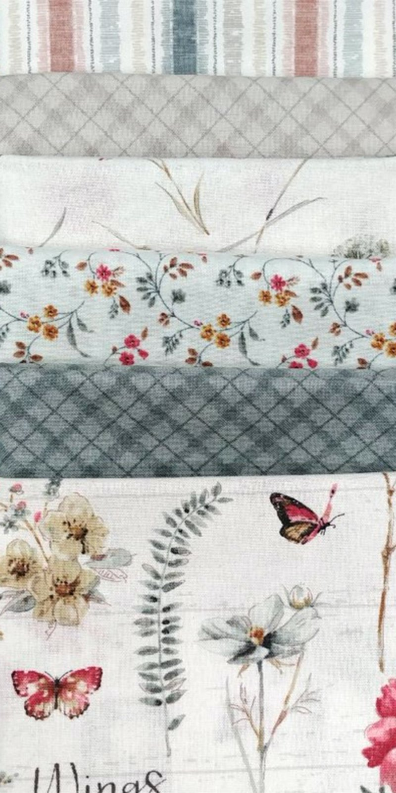 A Country Weekend FQ Bundle - 6 Fat Quarters, Grey