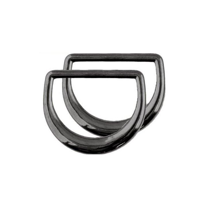 Clover 3/4 D-Rings - Black Nickel, Set of 2