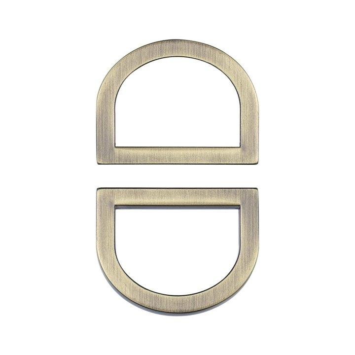 Clover 3/4 D-Rings - Satin Bronze, Set of 2