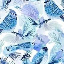 Dear Stella December to Remember Birds - Blue