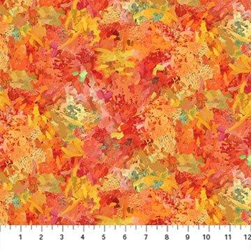 Northcott September Morning Brush Stroke - Red Multi