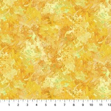 Northcott September Morning Brush Stroke - Yellow (0.7 m remnant)