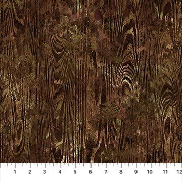 Northcott September Morning Wood Texture - Brown