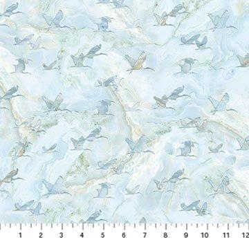 Northcott New Dawn Birds - Blue