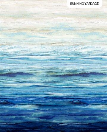 Northcott Sail Away Ombre - Indigo Multi