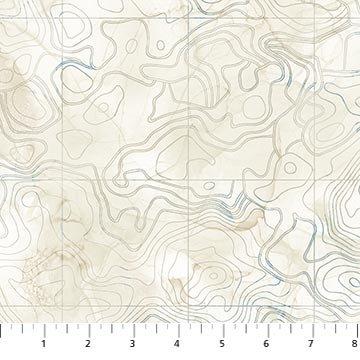Northcott Sail Away Contour Map - Beige Multi