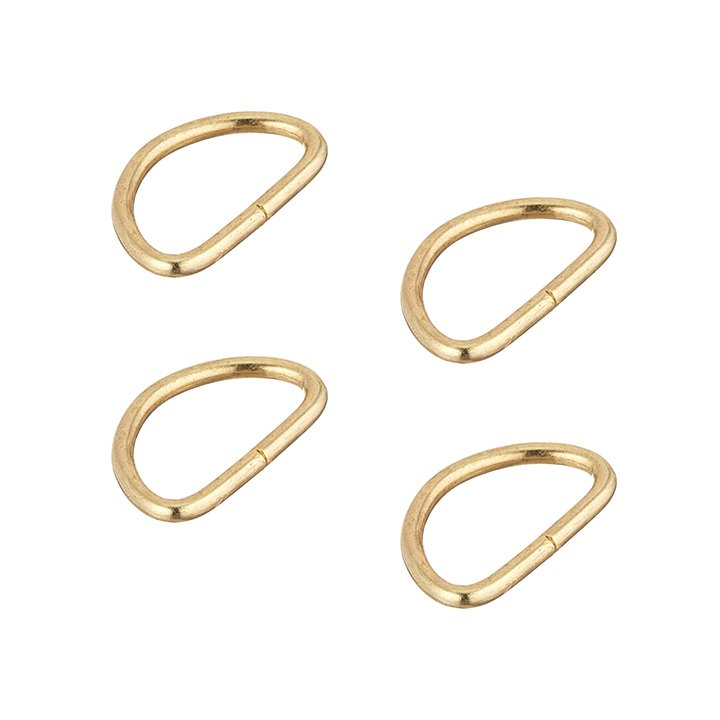 Dritz 1 D-Ring - Gold, Set of 4