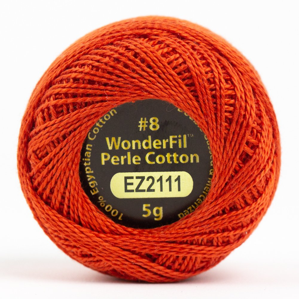 Eleganza 8wt 5-Gram Perle Cotton Ball 42yd - Rocket
