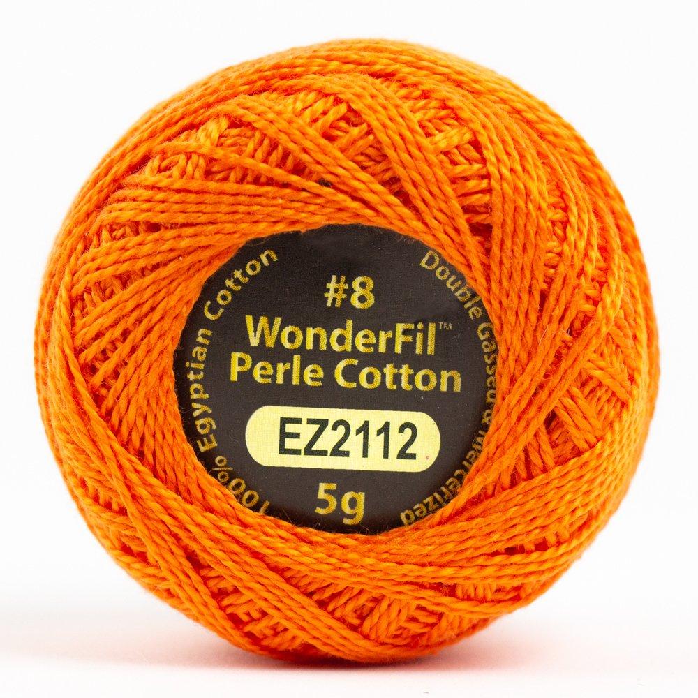 Eleganza 8wt 5-Gram Perle Cotton Ball 42yd - Pumpkin
