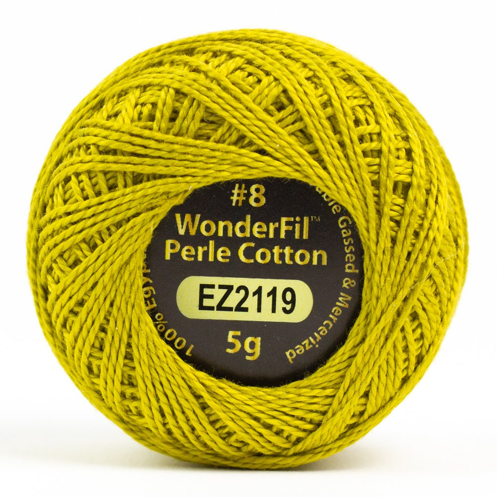 Eleganza 8wt 5-Gram Perle Cotton Ball 42yd - Chartreuse