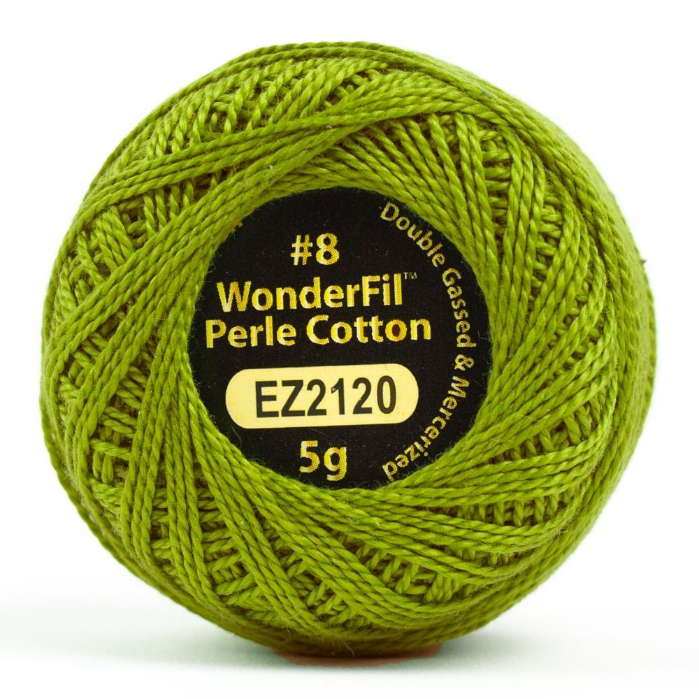 Eleganza 8wt 5-Gram Perle Cotton Ball 42yd - Olive