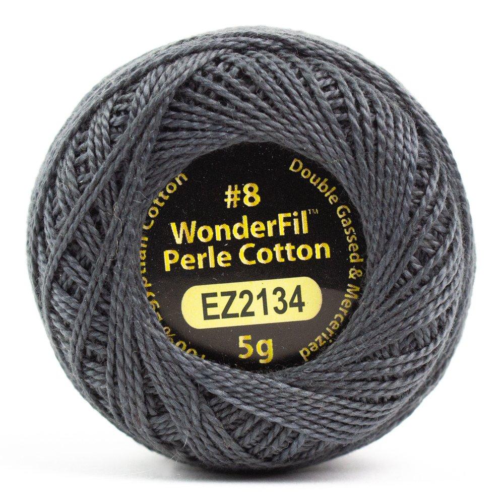 Eleganza 8wt 5-Gram Perle Cotton Ball 42yd - Charcoal