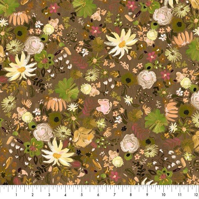 Dear Stella Woodland Fairytale Floral - Olive Green