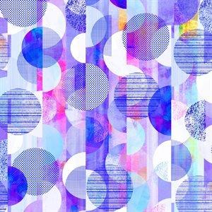 RJR Geometry Digiprint - Violet (Min order 1m)