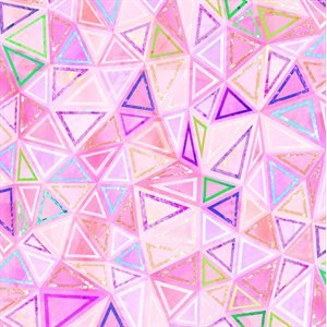 RJR Geometry Digiprint - Pink (Min order 1m)