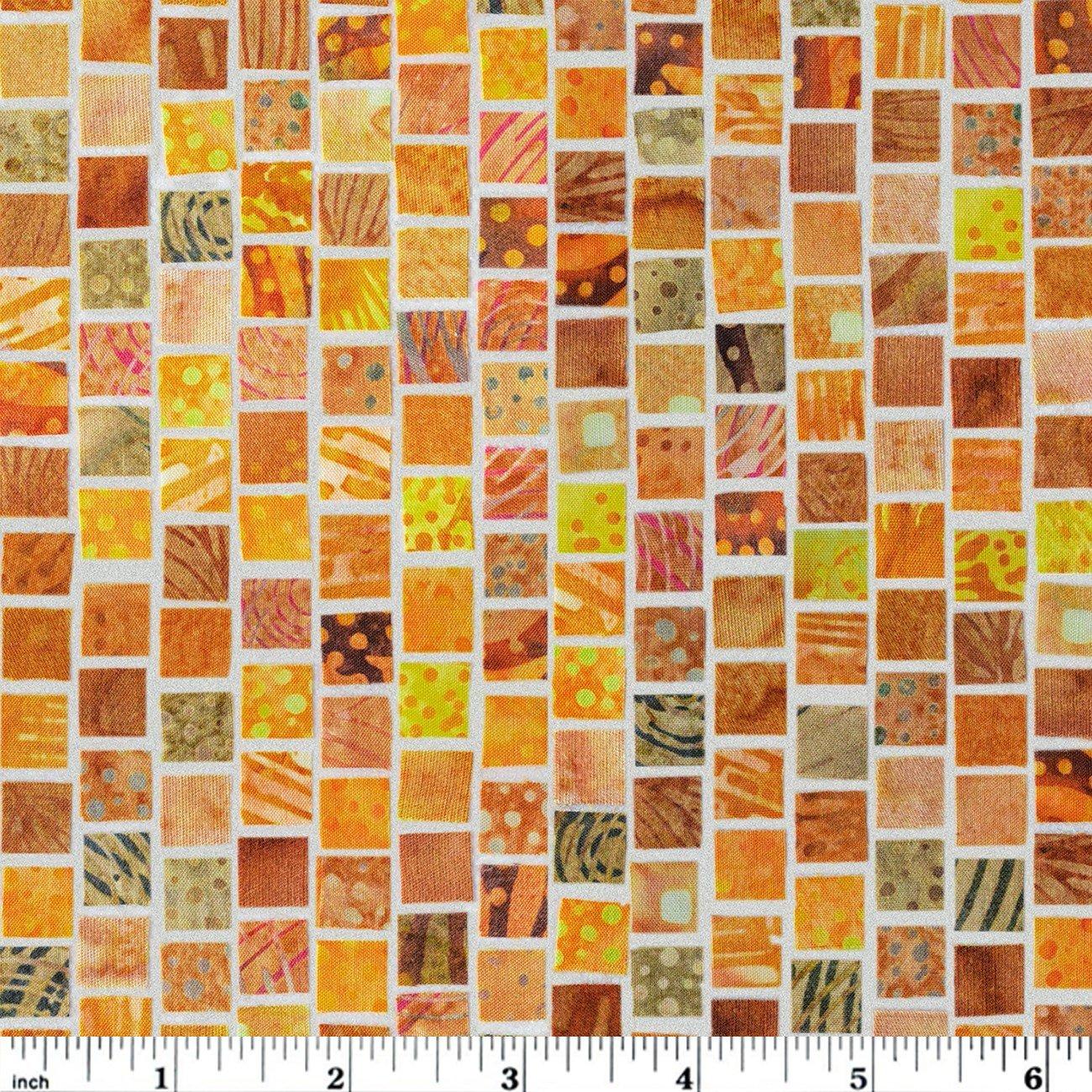 Hoffman Mosaic Masterpiece Digital - Gold Ochre