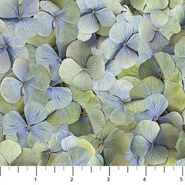 Northcott Harlow Hydrangea Petals - Blue Multi