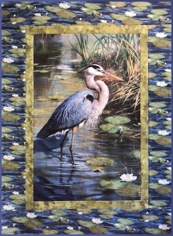 "Great Blue Heron Quilt Kit - 43½"" x 57½"""