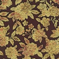 Robert Kaufman Fiorella Large Floral - Copper (Gold Metallic)