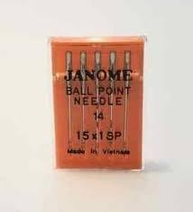 Janome Serger Needles Ballpoint Size14 15X1SP