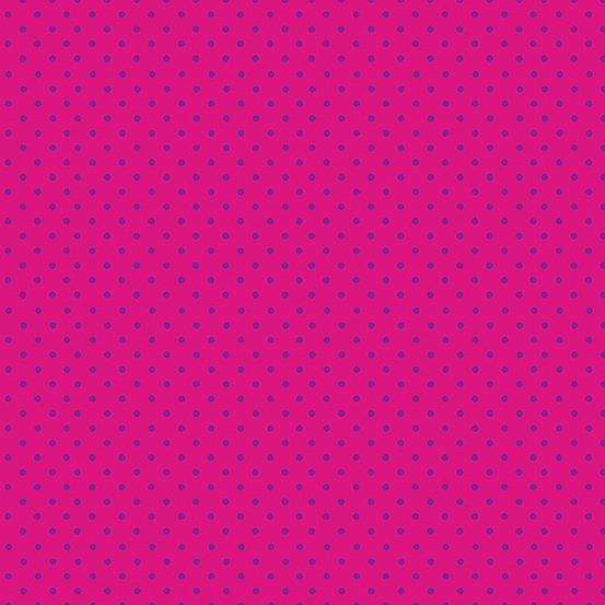 Makower Katie's Cats Dots - Pink/Purple