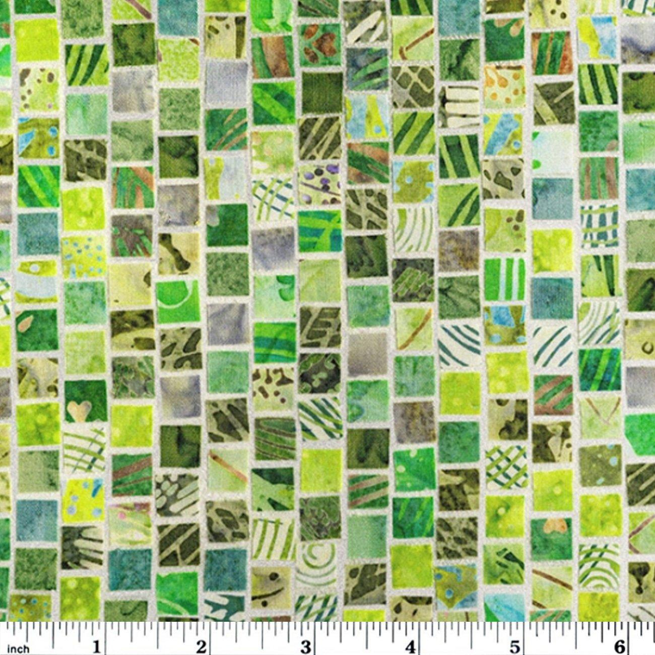 Hoffman Mosaic Masterpiece Digital - Lime