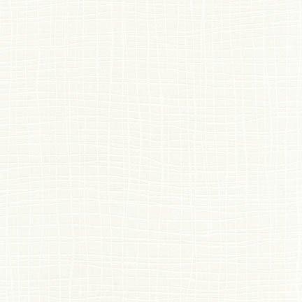Robert Kaufman Pen and Ink Large Irregular Crosshatch - Cream/White