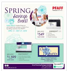 PFAFF SpringFlyer 2018