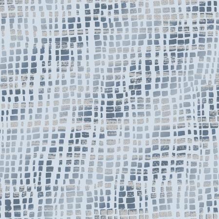 RJR Shiny Objects Glitz and Glamour Silk Scarf - Blue/Silver (Metallic)