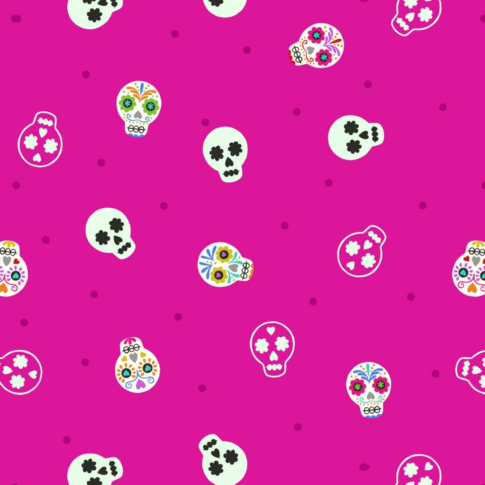 Lewis & Irene Small Things Sugar Skulls - Bright Pink (Glow In The Dark)