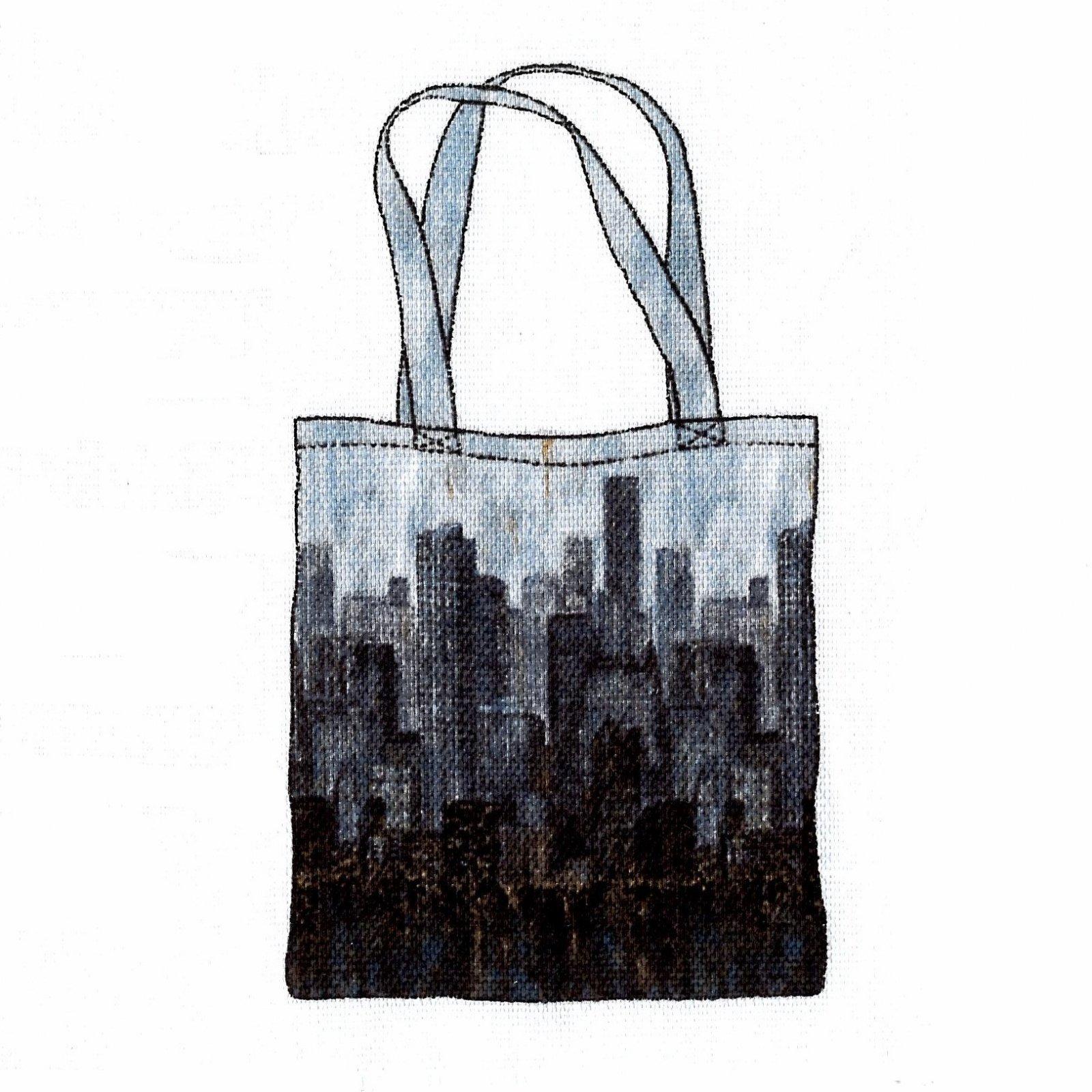 Northcott City Lights Canvas Tote Bag Kit