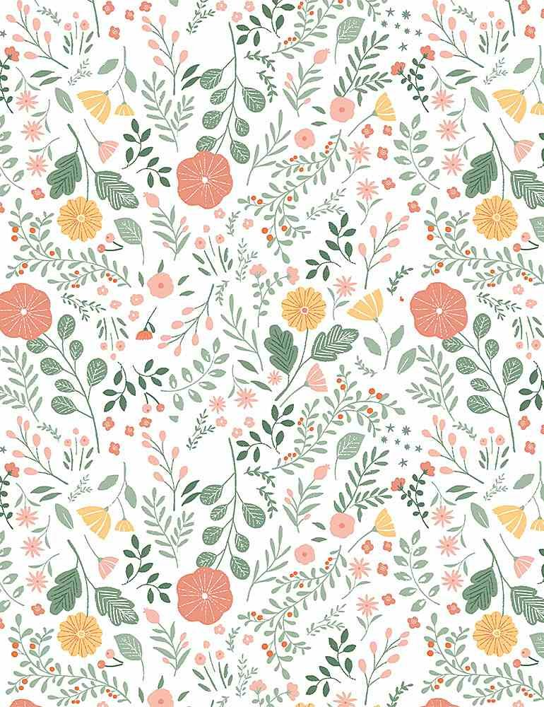 Dear Stella Sew On and Sew Forth Sew Lovely Floral - White
