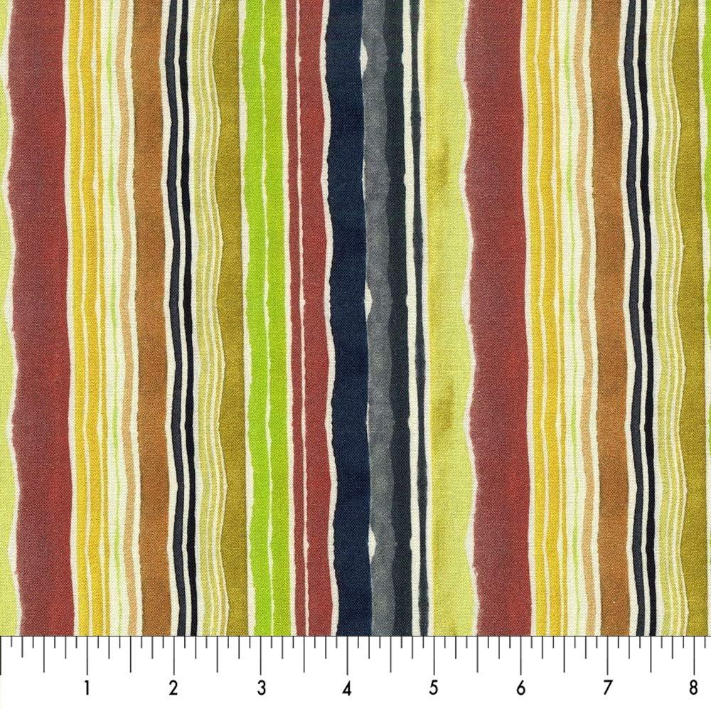 Dear Stella Woodland Fairytale Irregular Stripe - Multi  (0.5 m remnant)(Min. cut 1 metre)
