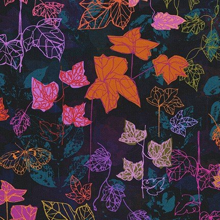 Robert Kaufman Loose Leaf Maple Leaves - Nightfall
