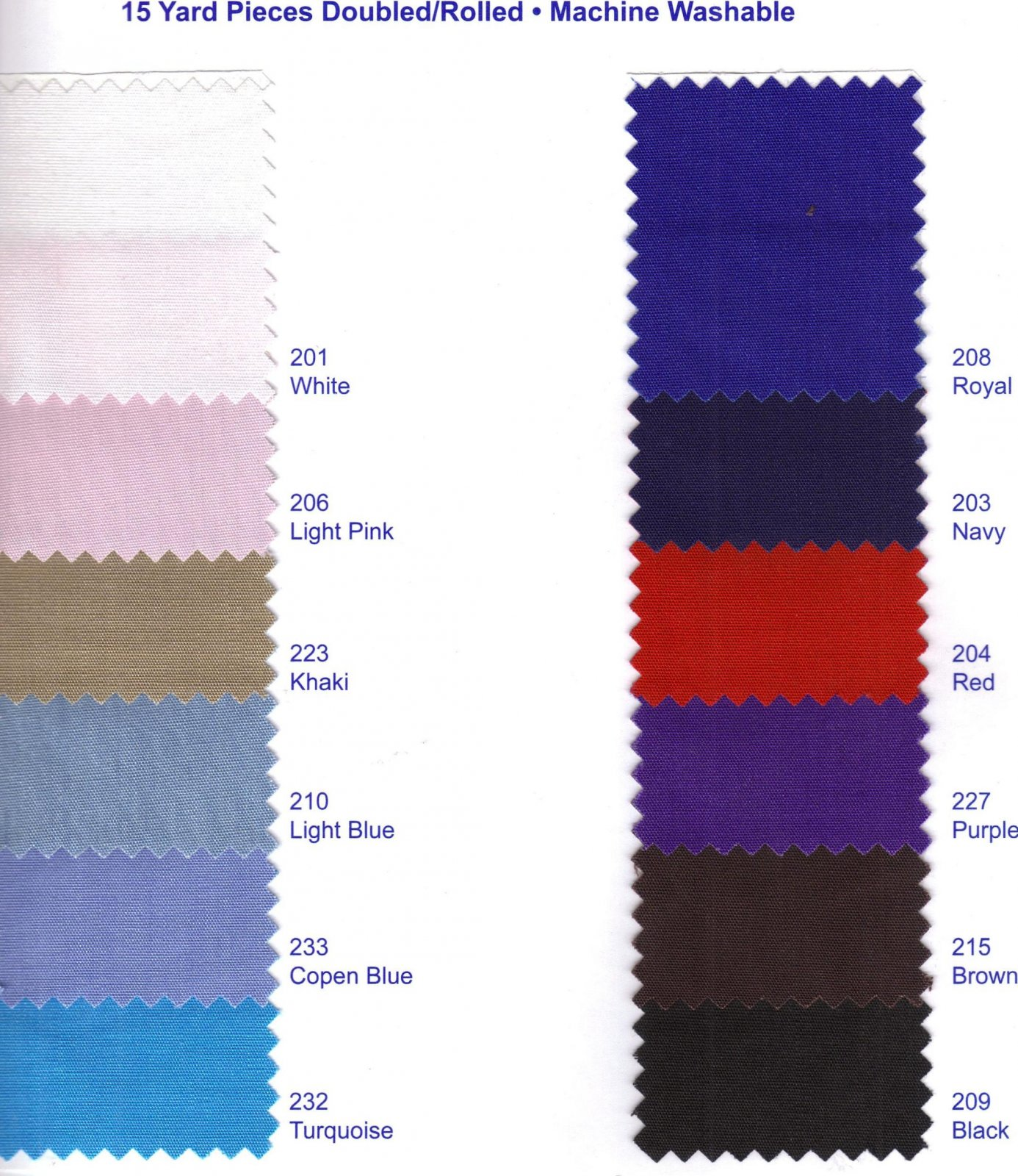Poly/Cotton Poplin 60 (12 Colors)