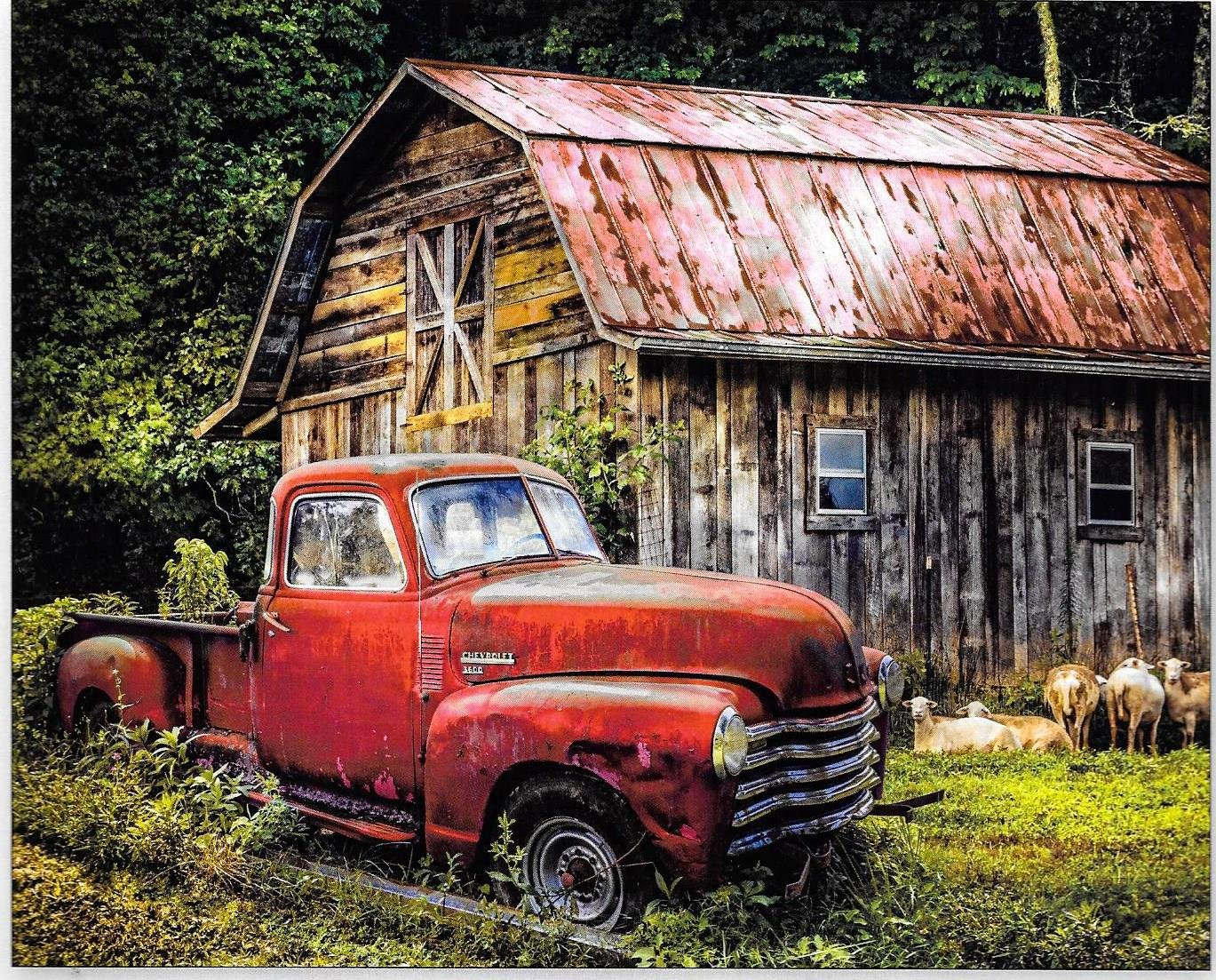 DT-Best of America AL-3716-8C Truck at the Barn Panel