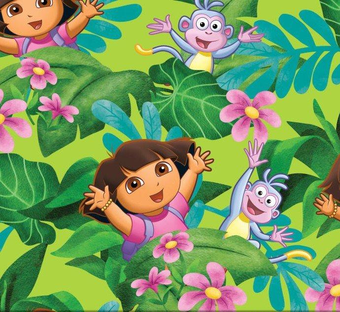 PROMO* SC-Licensed Fleece 33129 Dora Jungle Fever