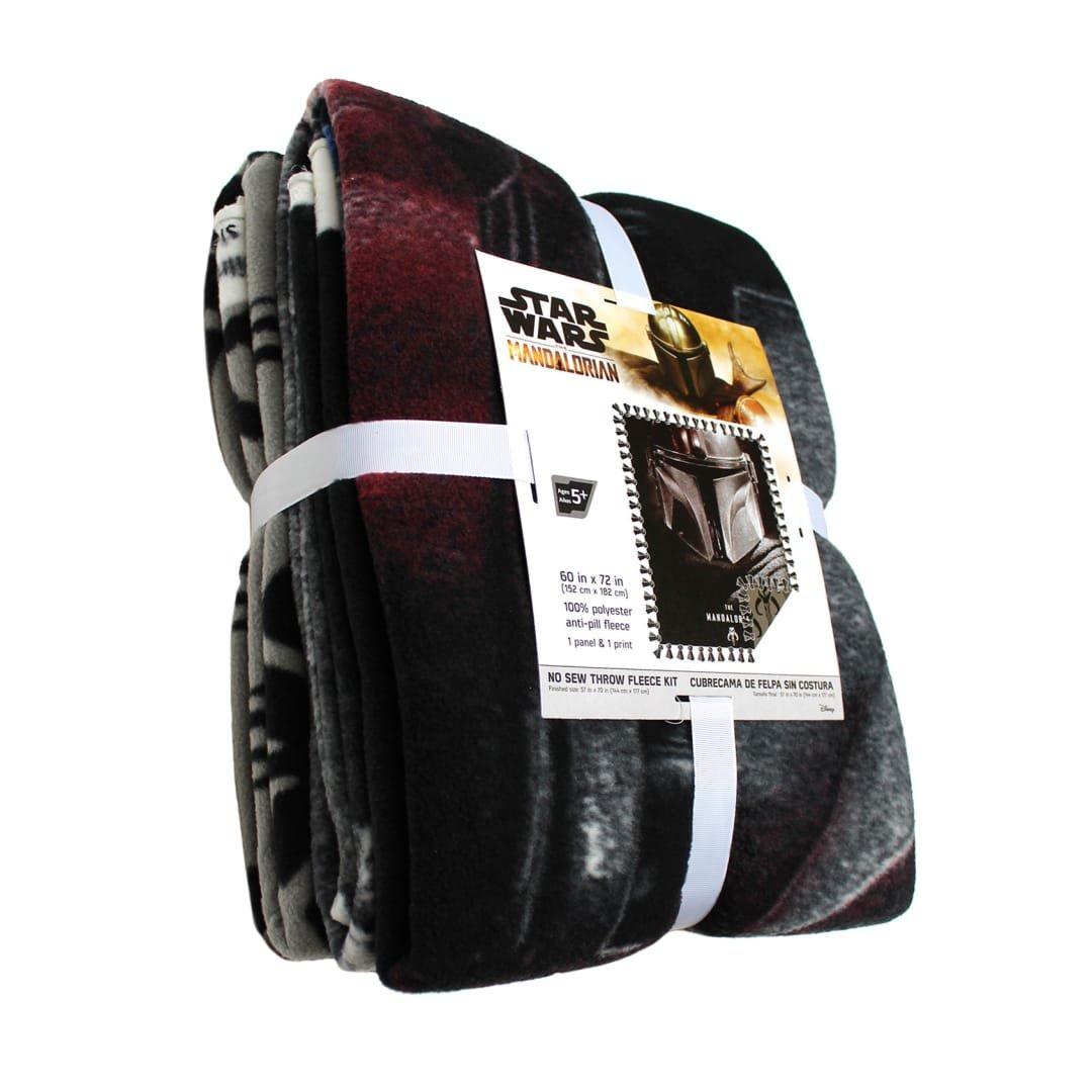 CF-Star Wars The Mandalorian No Sew Throw Fleece Kit