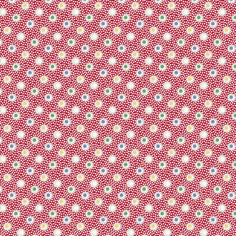 MF-Aunt Grace's Apron (1930's Reproduction) 0755-0111 Red - Double Dots
