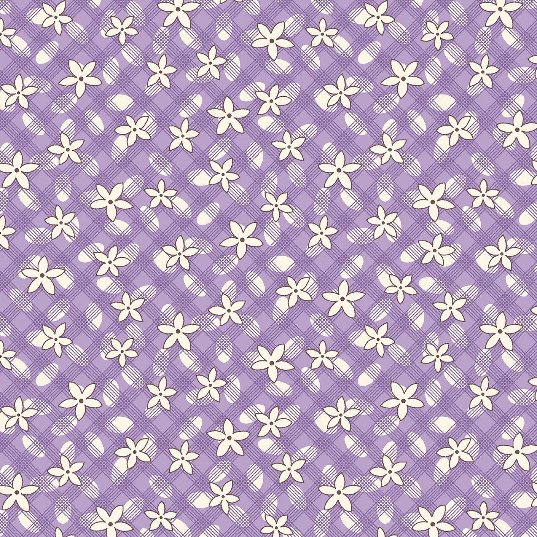 MF-Aunt Grace's Apron (1930's Reproduction) 0757-0135 Purple - Lazy Daisy