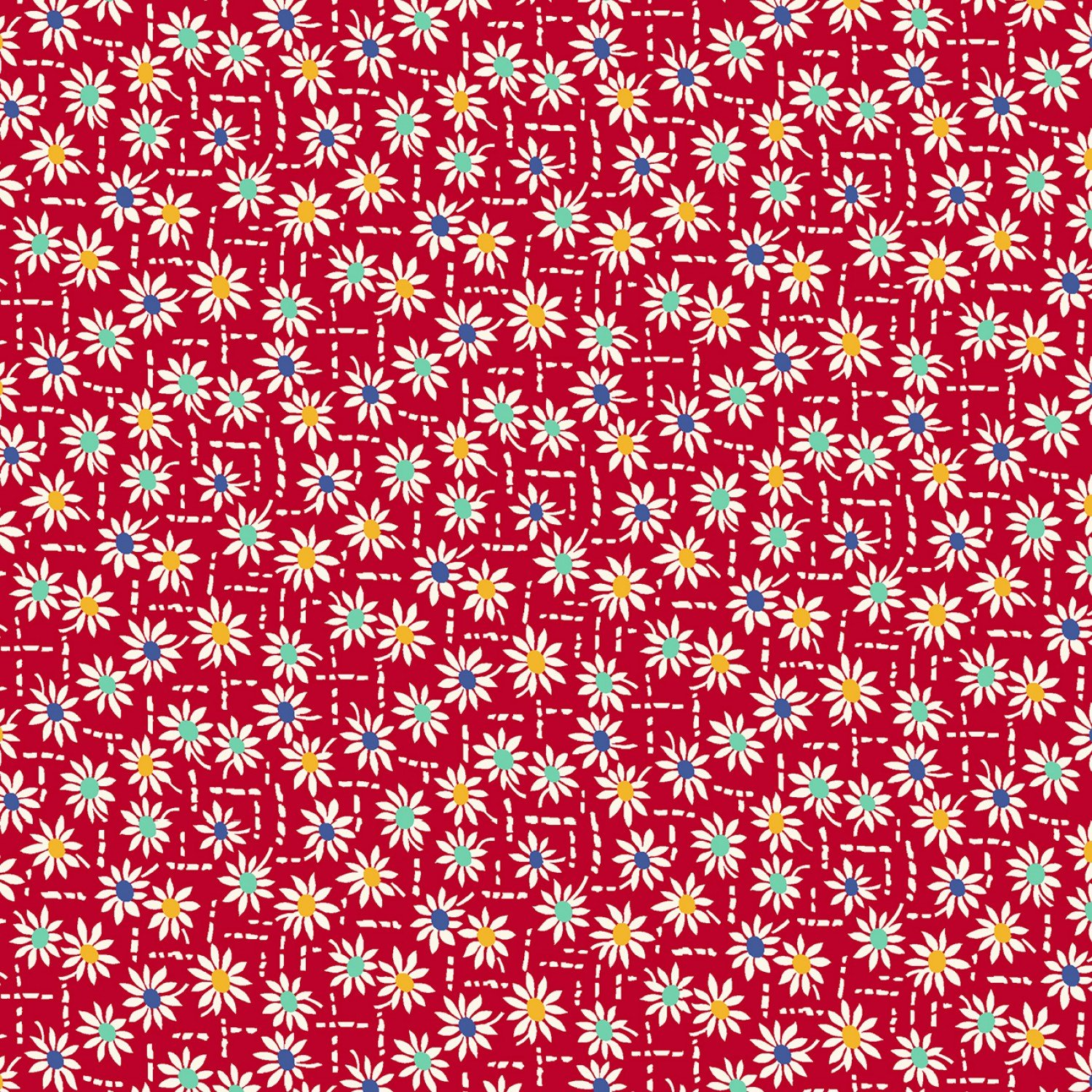 MF-Aunt Grace's Apron (1930's Reproduction) 0758-0111 Red - Daisy Stitch