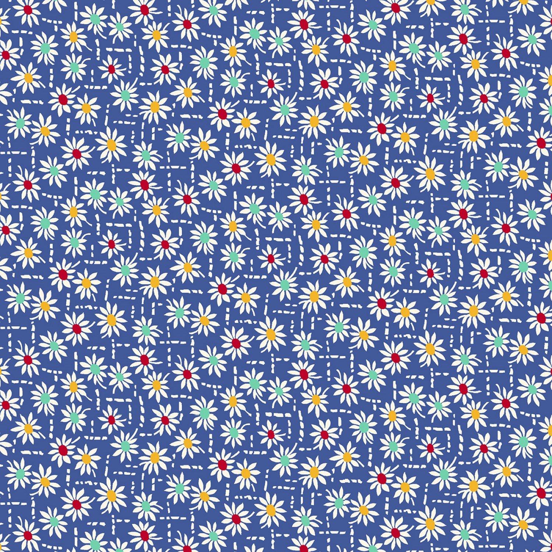 MF-Aunt Grace's Apron (1930's Reproduction) 0758-0150 Blue - Daisy Stitch