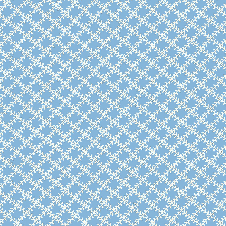 MF-Aunt Grace's Apron (1930's Reproduction) 0760-0122 Blue - Leaf Trellis