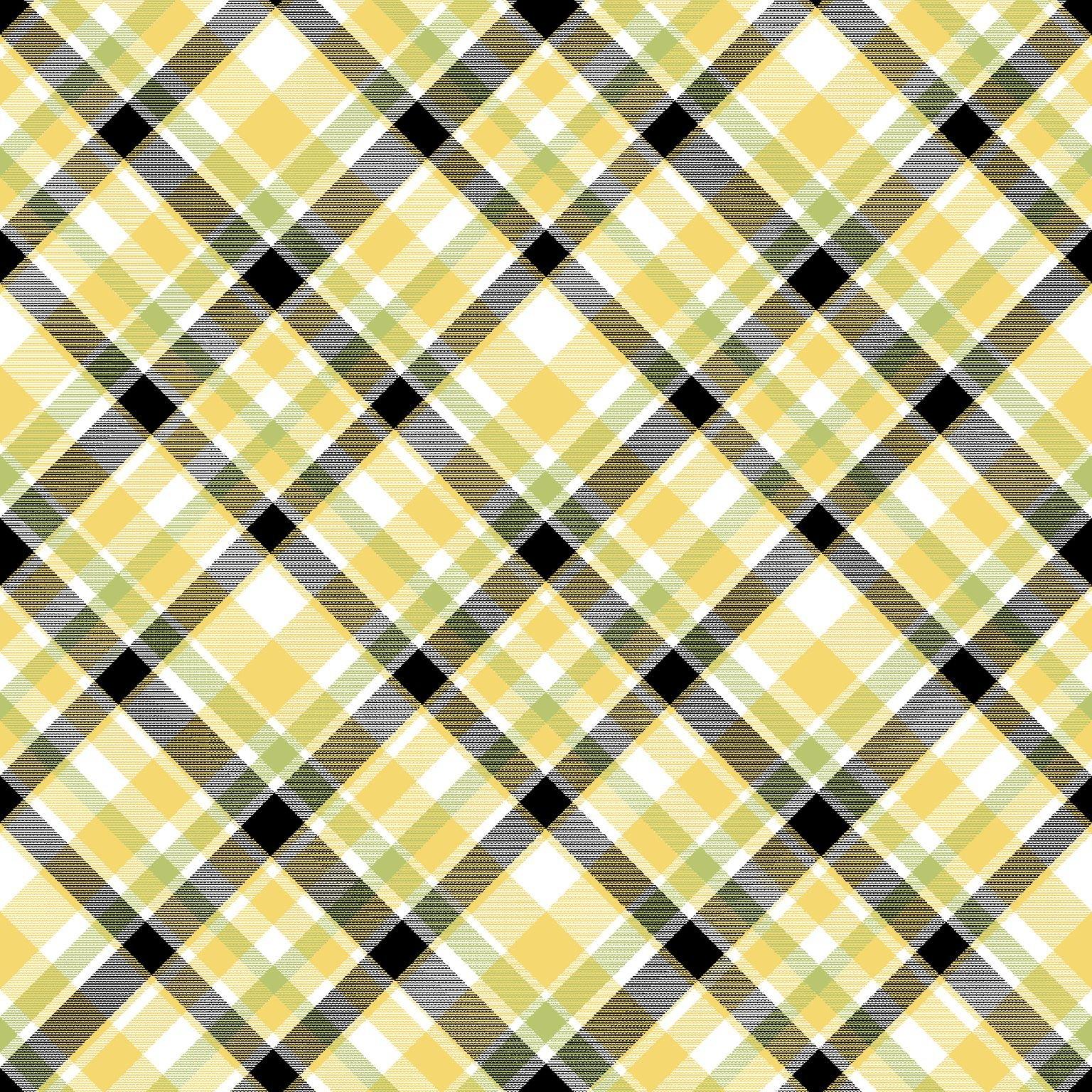 HG-Bee You! 101-49 Yellow/Black - Bias Plaid