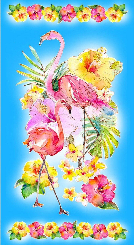 Sykel-Flamingos in Paradise 10290 Flamingo Panel (24 x 44)