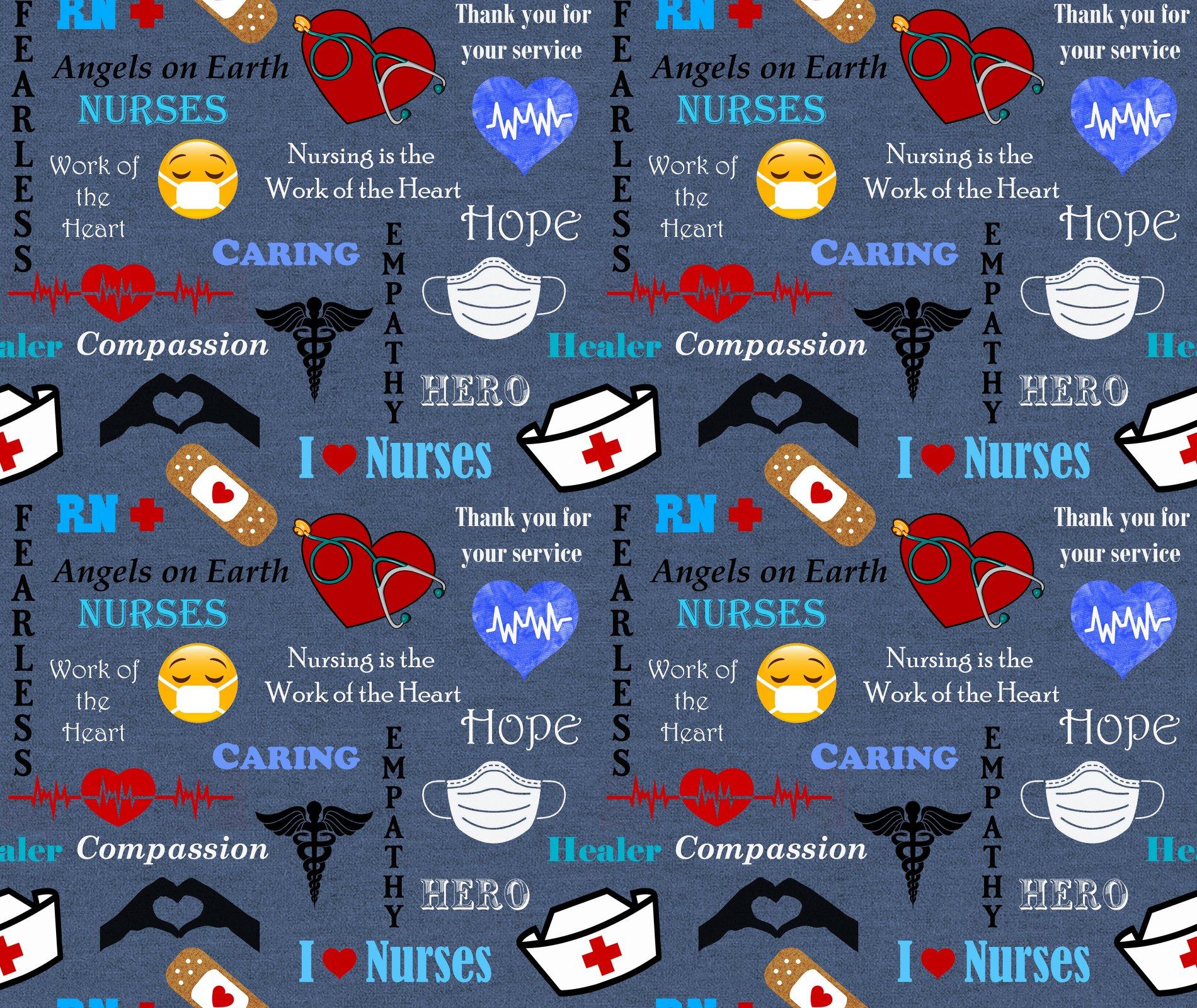 Sykel-Nurse Cotton 10321 Nurse Hero Allover (Denim Color)