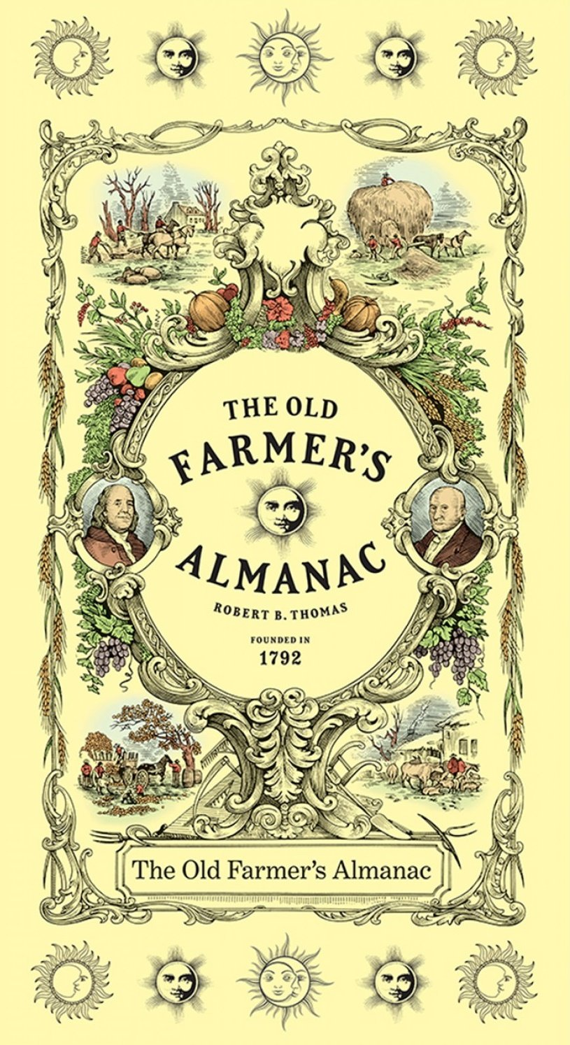 SF-Old Farmers Almanac Floral 10323-OFA Etched 24 x 44 Panel
